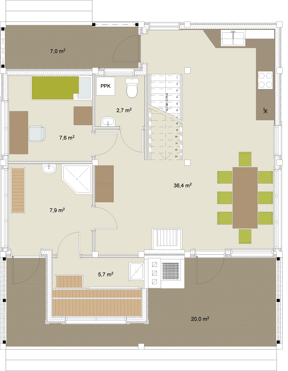 Artic Frame 176 wooden home floorplans