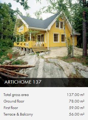 ah137 log frame house