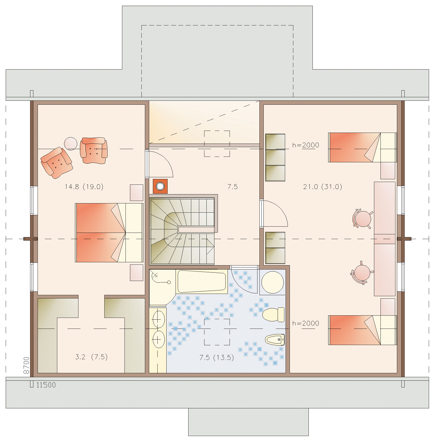 Euro 205 timber house layout
