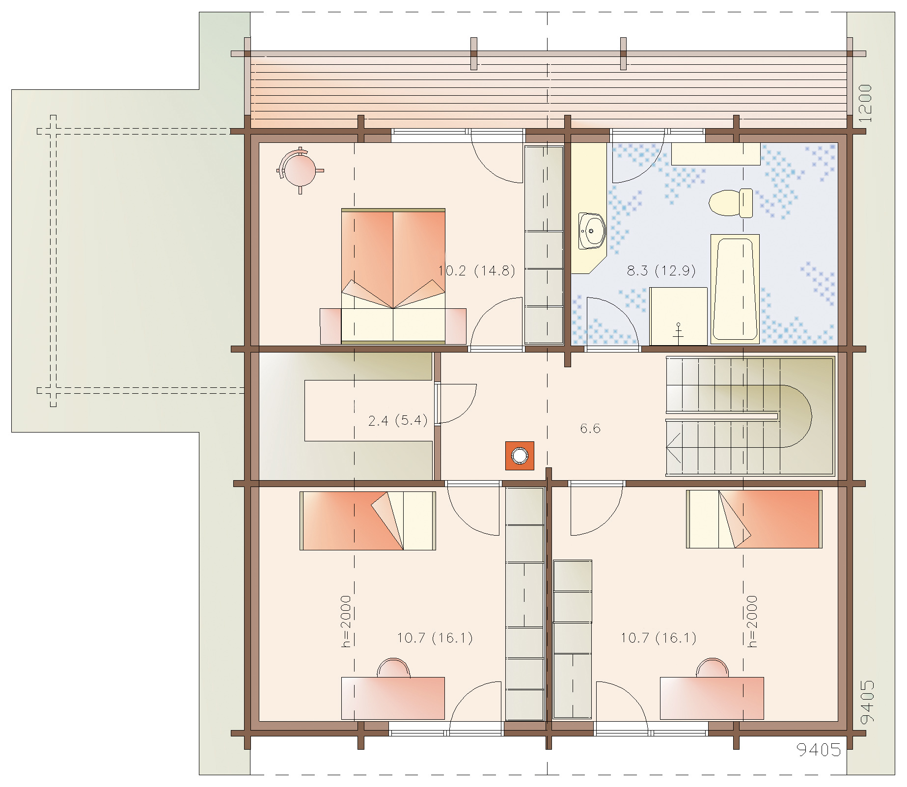 Euro 189 timber house layout