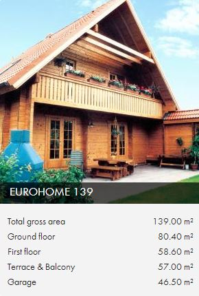 e139 wooden framed house