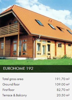 e192 wooden framed house