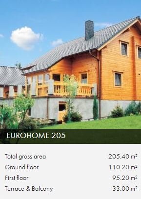 e205 timber framed house