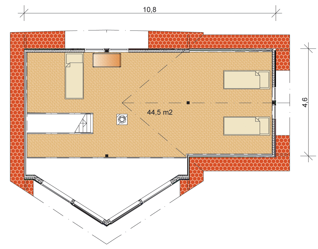 Tunturi 131 Wooden Home Floorplans