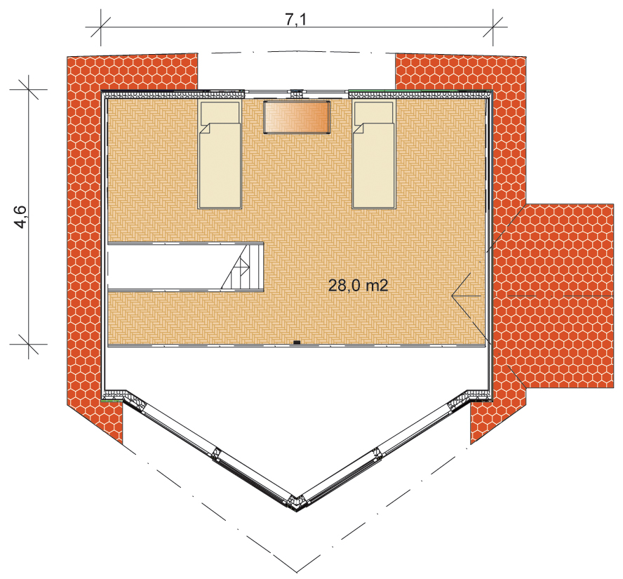 Tunturi 103 Wooden Home Floorplan