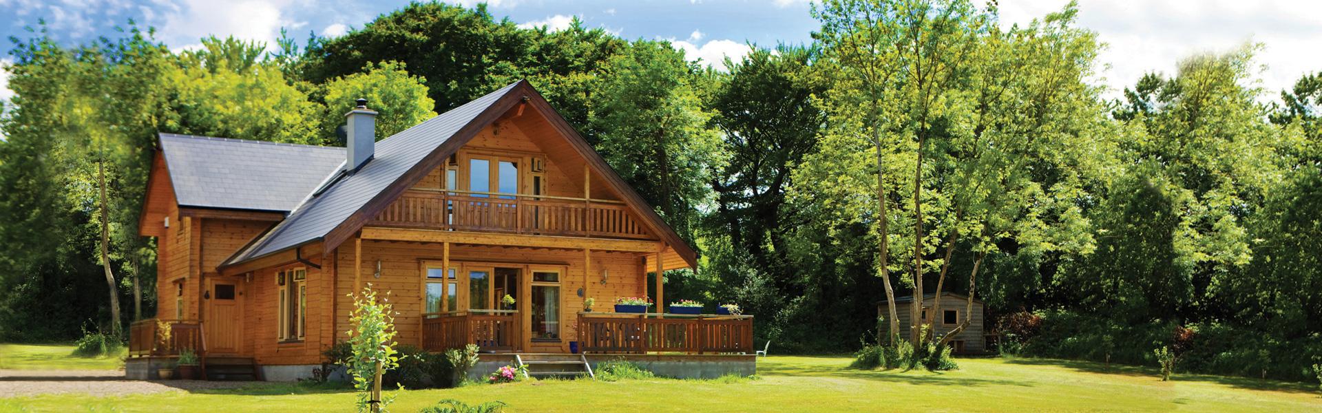 Timber Frame Houses - Self Build Log House - Borg Timber House